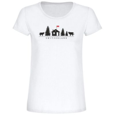 "T-Shirt ""Switzerland + Motiv"" - Damen"