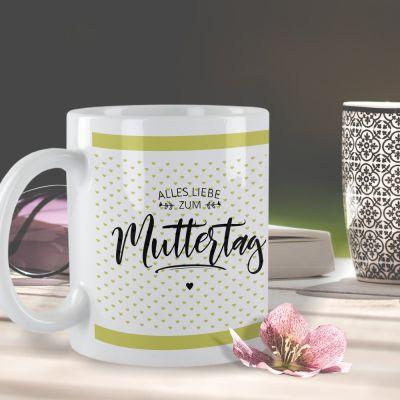 """Weiße Tasse """"Alles Liebe zum Muttertag!"""""""