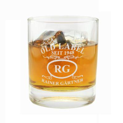 """Whiskyglas """"Emblem: Old Label"""" - personalisiert"""