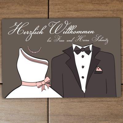 """Fußmatte """"Brautpaar"""" mit Familiennamen"""
