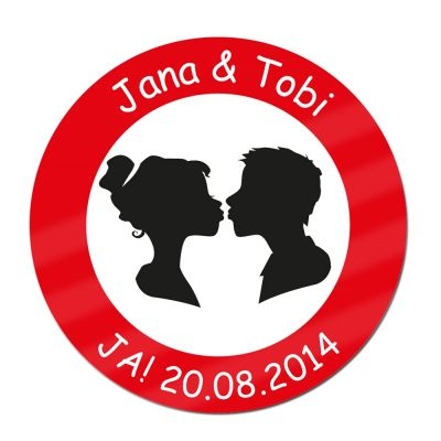 Schild zur Hochzeit - personalisiert