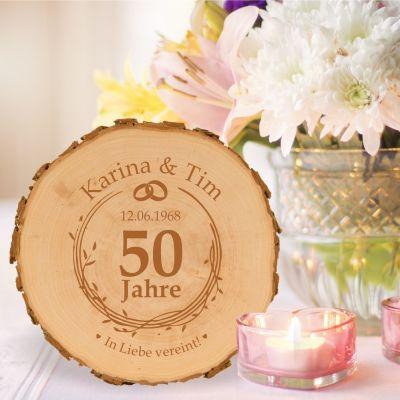 Baumscheibe zur goldenen Hochzeit - personalisiert