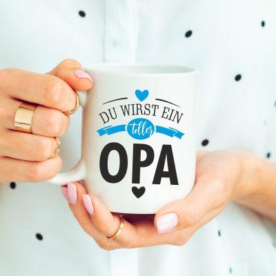 """weiße Tasse """"Du wirst ein toller Opa"""""""