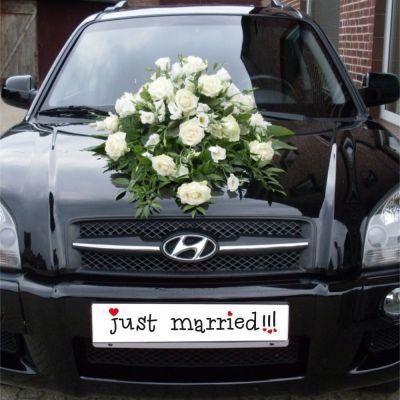 """Autokennzeichen & Deko Schild """"just married !!!"""""""