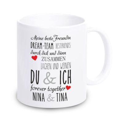 """Tasse """"Meine beste Freundin"""" - personalisiert"""