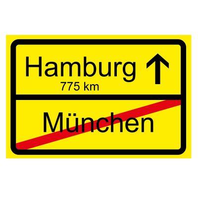 """Fußmatte """"Ortsschild"""" zum Umzug / Eigenheim"""