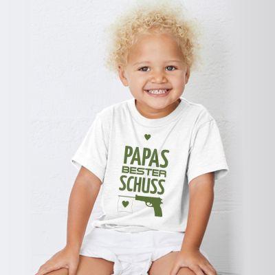 """Kinder T-Shirt """"Papas bester Schuss"""""""