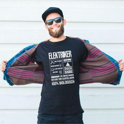 """T-Shirt """"Elektriker - Fact Sheet"""""""