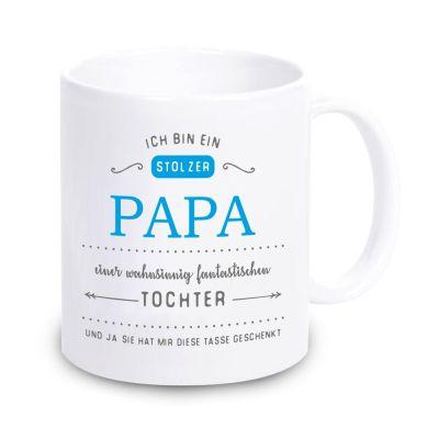 """Tasse """"Ich bin ein stolzer Papa eines wahnsinnig fantastischen Sohnes / Tochter"""""""