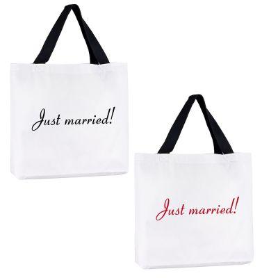 """Tragetasche """"Just Married"""""""