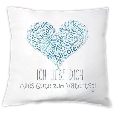 """Kissen """"Vatertagsherz"""" - personalisiert"""