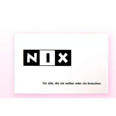 NIX - das Spaßgeschenk - Geburtstagsgeschenk - Weihnachtsgeschenk - Nikolaus - Adventskalender - Wichtelgeschenk