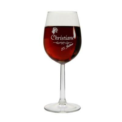Weinglas mit Namen & Jahreszahl