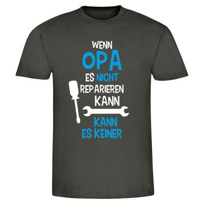 """T-Shirt """"Wenn Opa es nicht reparieren kann"""" - Herren"""