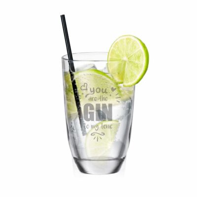 """GIN-Glas """"You are the GIN to my tonic"""""""