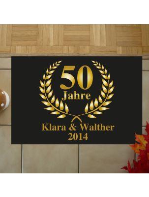 Fußmatte zur Goldenen Hochzeit - personalisiert