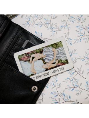 Fotokarte für die Brieftasche mit Wunschtext