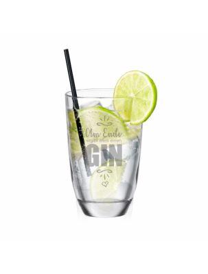"""GIN-Glas """"Am Ende ergibt alles einen GIN"""""""