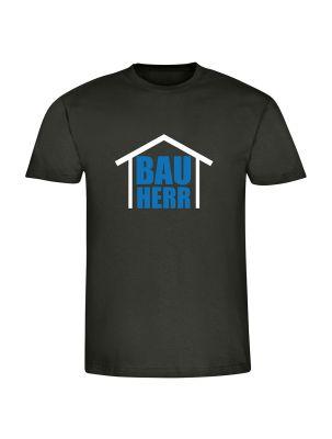 """schwarzes T-Shirt """"Bauherr - Bauherrin"""""""