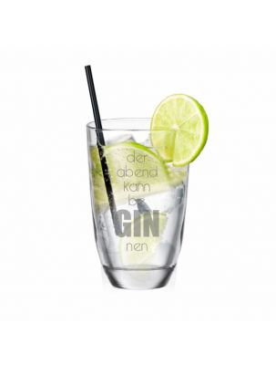 """GIN-Glas """"Der Abend kann beGINnen"""""""