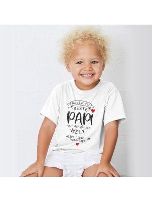 """Kinder T-Shirt """"Du bist der beste Papi auf der ganzen Welt"""""""