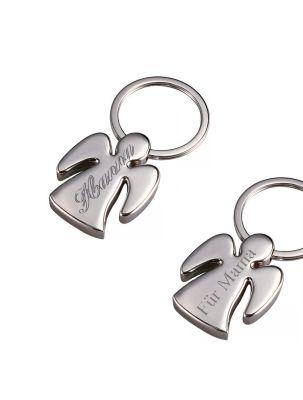 """Schlüsselanhänger aus Metall """"Engel"""" - personalisiert"""