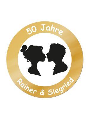 Schild zur goldenen Hochzeit - personalisiert