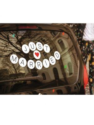 Autoaufkleber Honeymoon-Sticker - Just Married