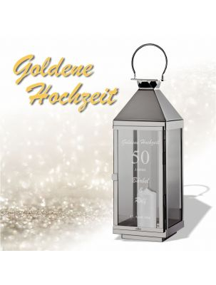 Laterne zur goldenen Hochzeit - personalisiert