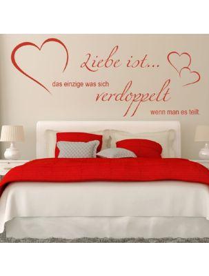 """Wandtattoo """" Liebe ist.. das einzige was sich verdoppelt wenn man es teilt"""