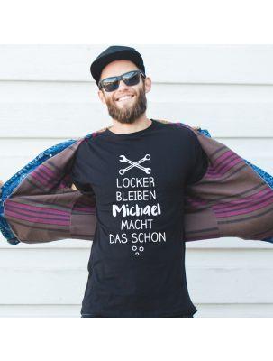 """Personalisiertes T-Shirt """"Locker bleiben"""""""