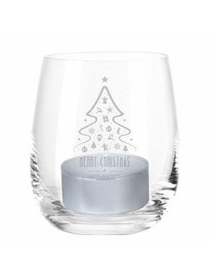 """Windlicht """"Merry Christmas"""" (Tannenbaum)"""