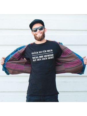 """schwarzes T-Shirt """"Glück ist für mich..."""""""