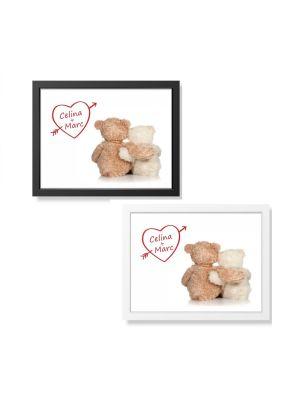 """Bild """"Teddy's mit Herz"""" - personalisiert (verschiedene Größen)"""