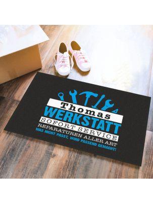 """Personalisierte Fußmatte """"Werkstatt"""""""