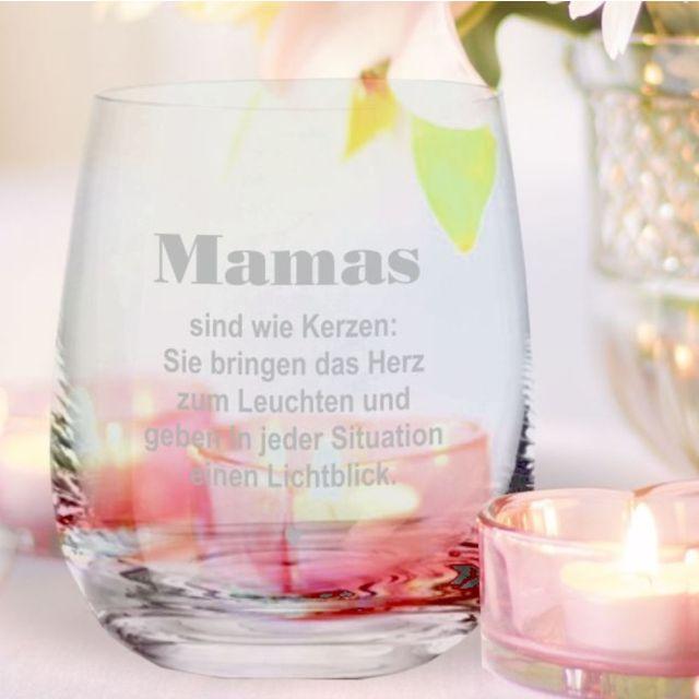 """Windlicht - Teelicht """"Mamas sind wie Kerzen"""""""