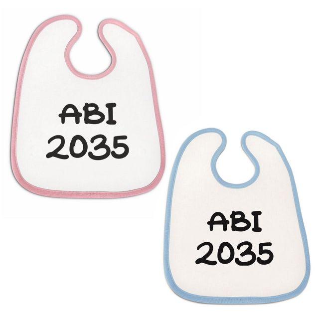 "Lätzchen ""Abi 2035"" (Farbe: rosa oder blau)"