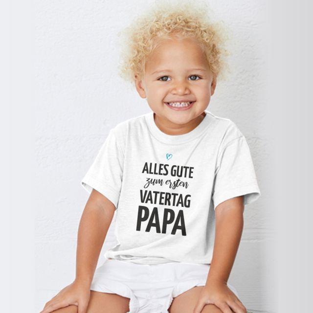 """Personalisiertes Kinder T-Shirt """"Alles Gute zum [Zahl]. Vatertag, Papa"""""""