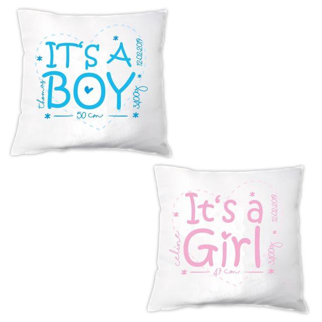 "Kissen ""It's a Boy / Girl ♡"""