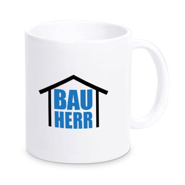 "Weiße Tasse ""Bauherr - Bauherrin"""