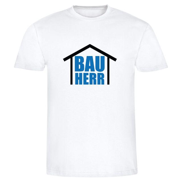 "weißes T-Shirt ""Bauherr - Bauherrin"""