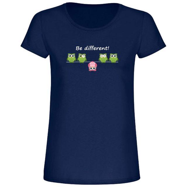"""T-Shirt """"Be different"""" - Damen"""