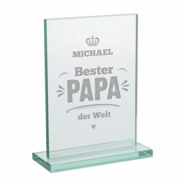 "Glaspokal ""Bester Papa der Welt"" - personalisiert"