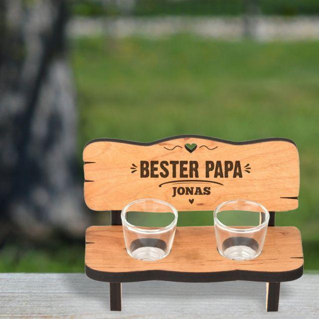 """Personalisierte Schnapsbank """"Bester Papa"""""""