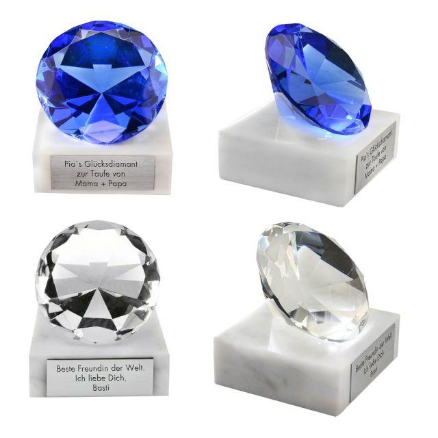 Glasdiamant mit Gravur - personalisiert