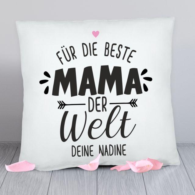 """Personalisiertes Kissen """"Für die beste Mama der Welt"""""""