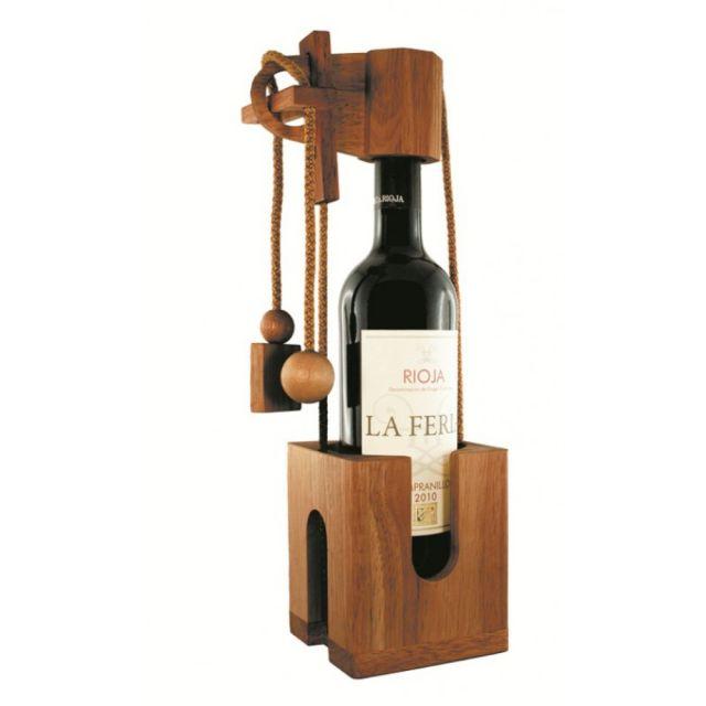 Edelholz Flaschenpuzzle - Geschenkverpackung für Flaschen