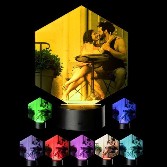 LED Motivlampe - personalisierte 3D Leuchte mit Fotodruck