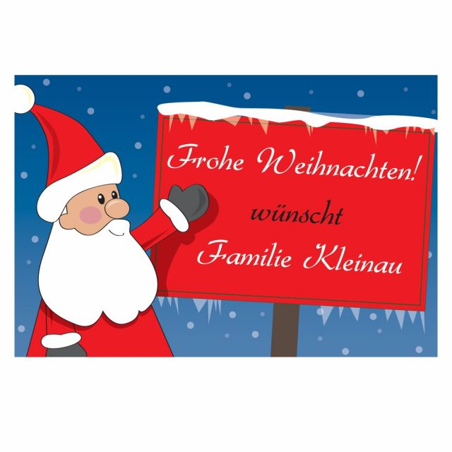"""Fußmatte """"Frohe Weihnachten"""" mit Namen"""