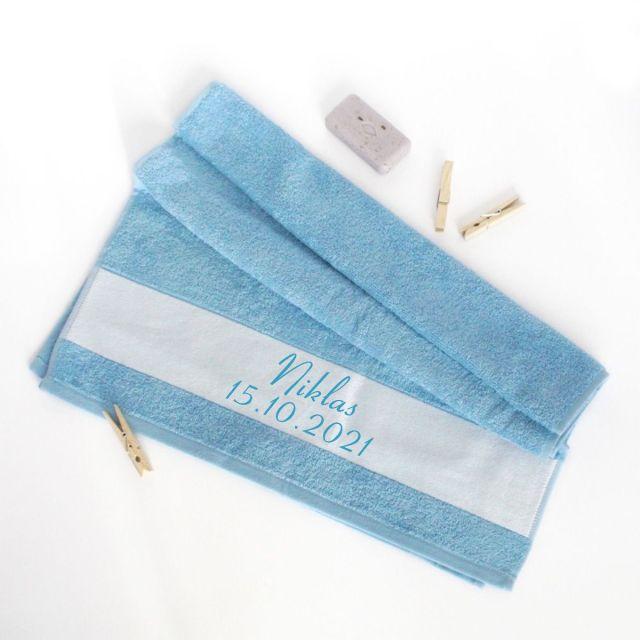Handtuch zur Geburt oder Taufe - 50 x 100 cm